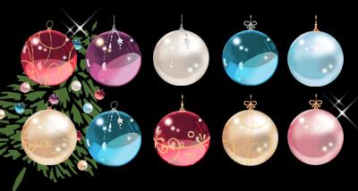 クリスマスカラーボール