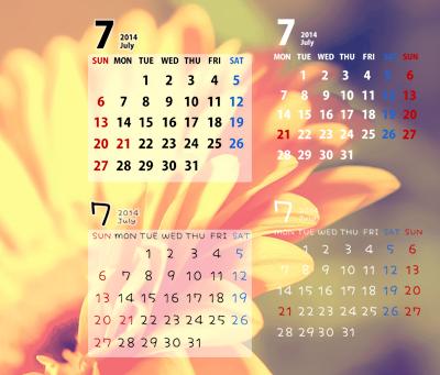 オリジナルカレンダーが作れるカレンダースタンプ