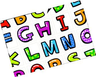 カラフルでポップなアメコミ文字のスタンプ☆